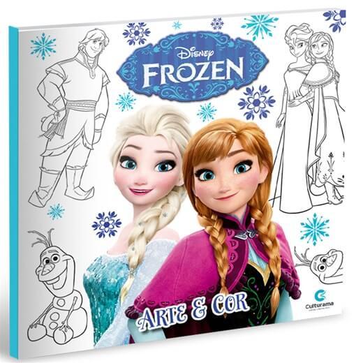 Livro de Colorir Arte e Cor Disney Frozen  Culturama