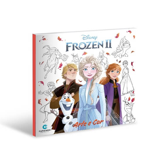 Livro de Colorir Arte e Cor Frozen Culturama
