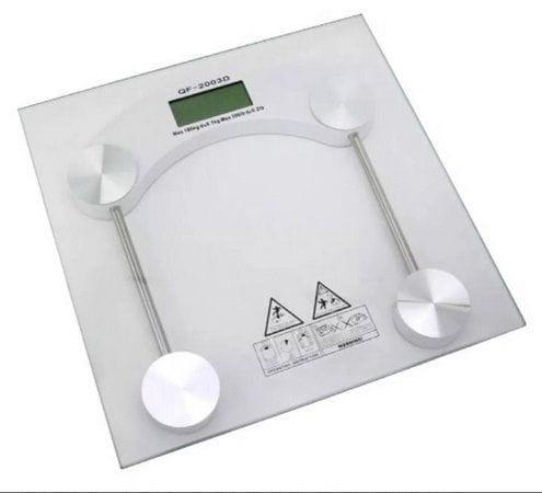 Balança Digital para Banheiro Base de vidro até 180Kg Clink