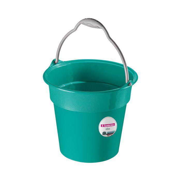 Balde Oba Plástico Verde 8L Sanremo