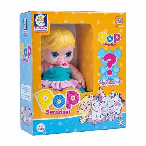 Boneca Pop Surprise Acompanhada de Pet Surpresa