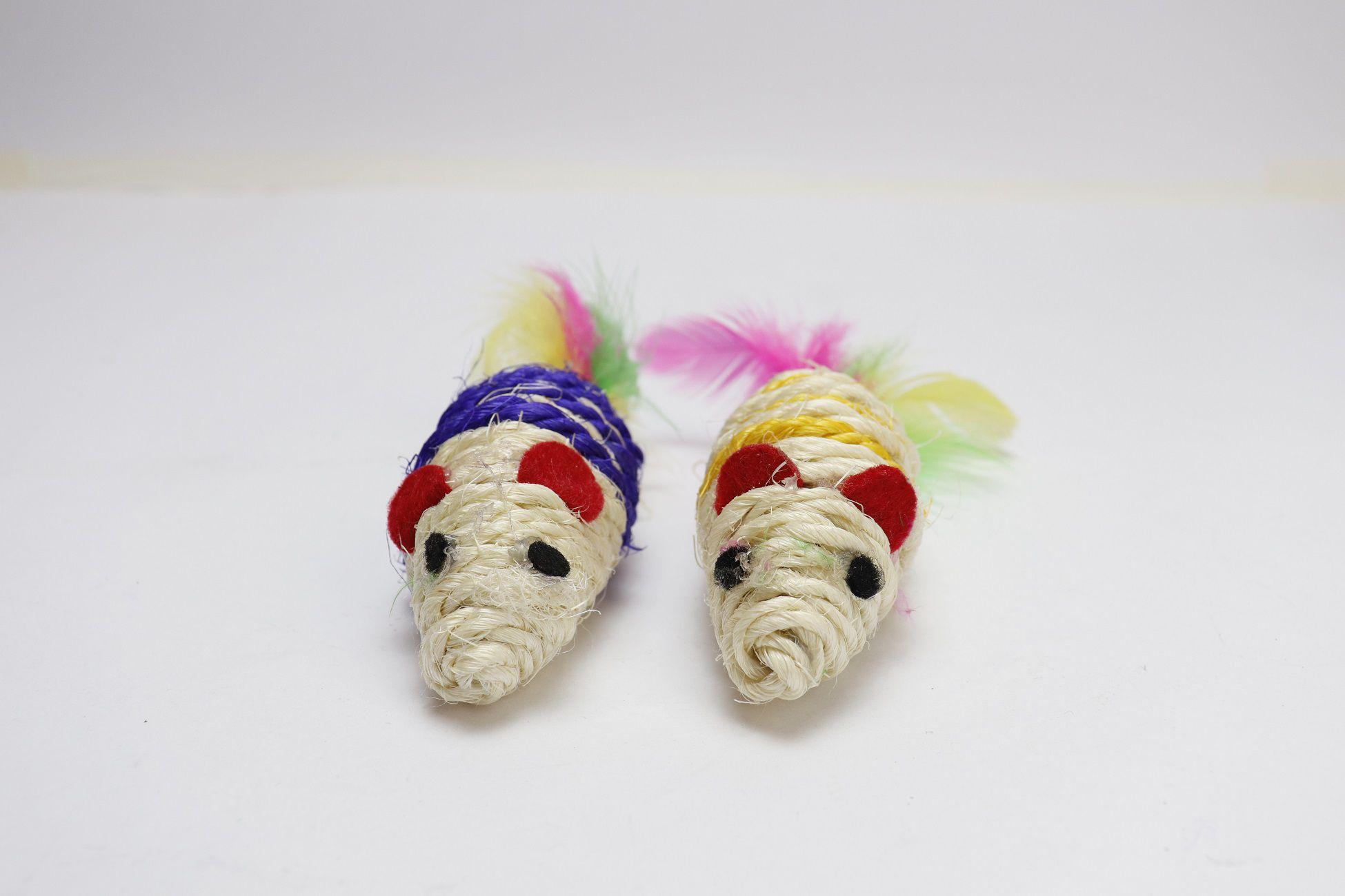 Brinquedo Conjunto com 2 Ratos 15cm Amo Pet