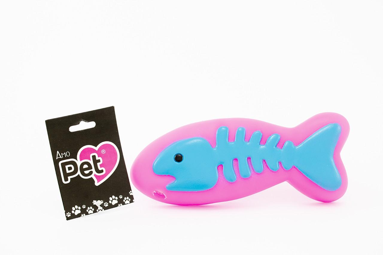 Brinquedo Mordedor Isca de Peixa Amo Pet