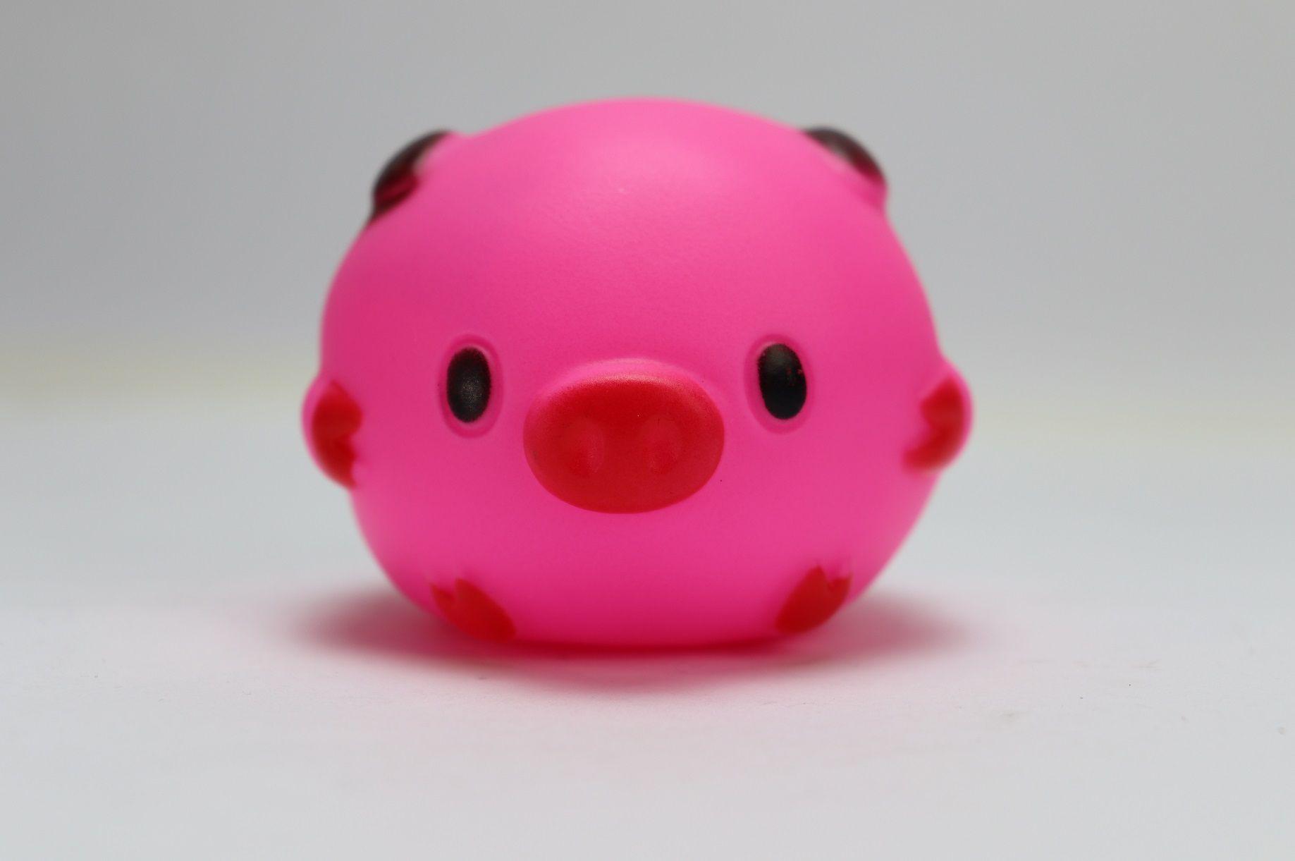 Brinquedo Mordedor Porco Bola 7CM Amo Pet