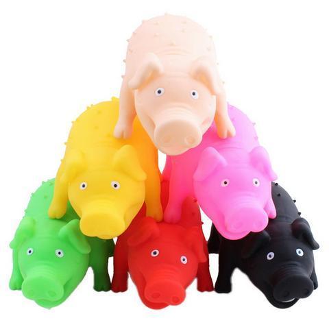 Brinquedo Mordedor Porco com Som Amo Pet