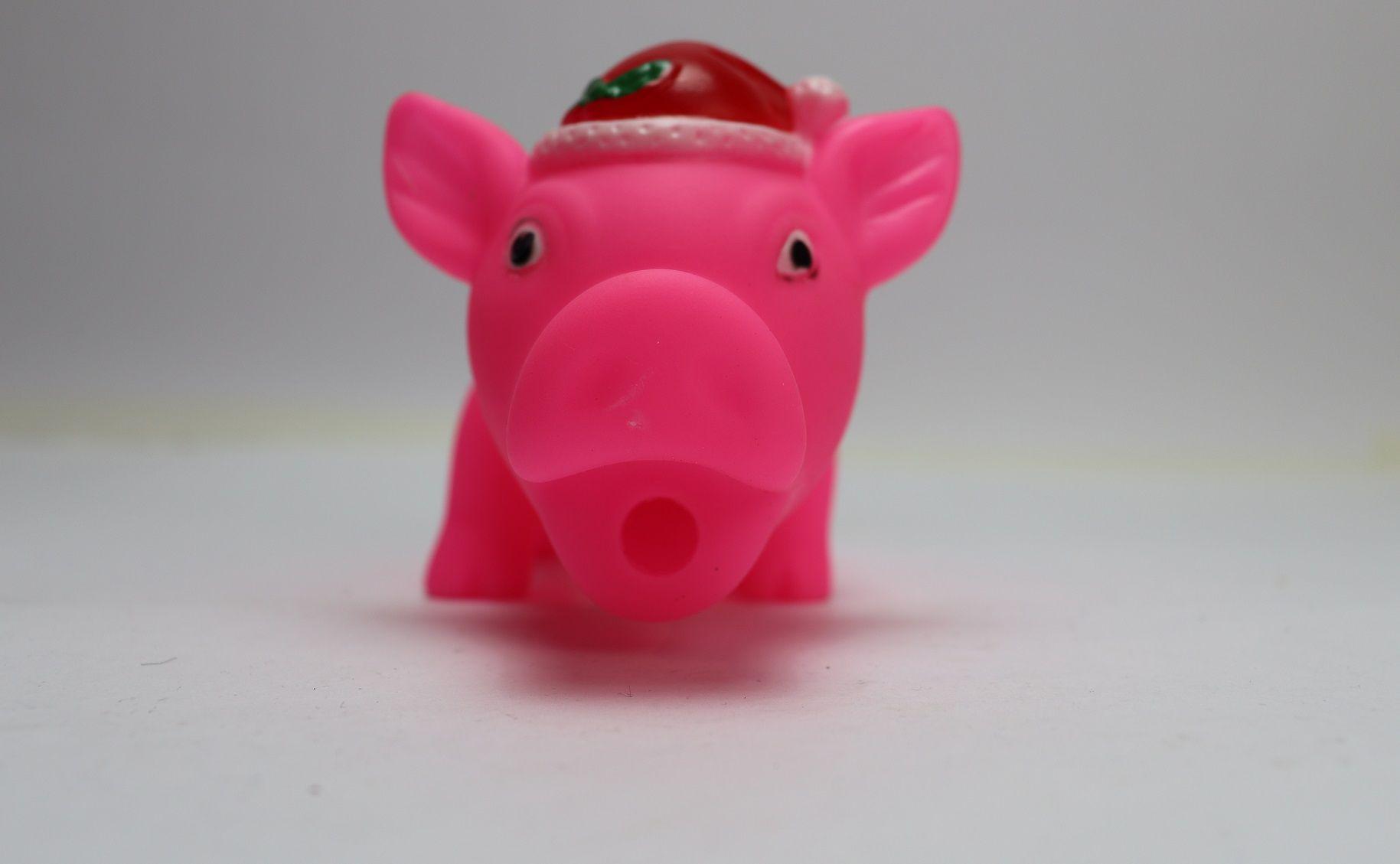 Brinquedo Mordedor Porco Natal Amo Pet
