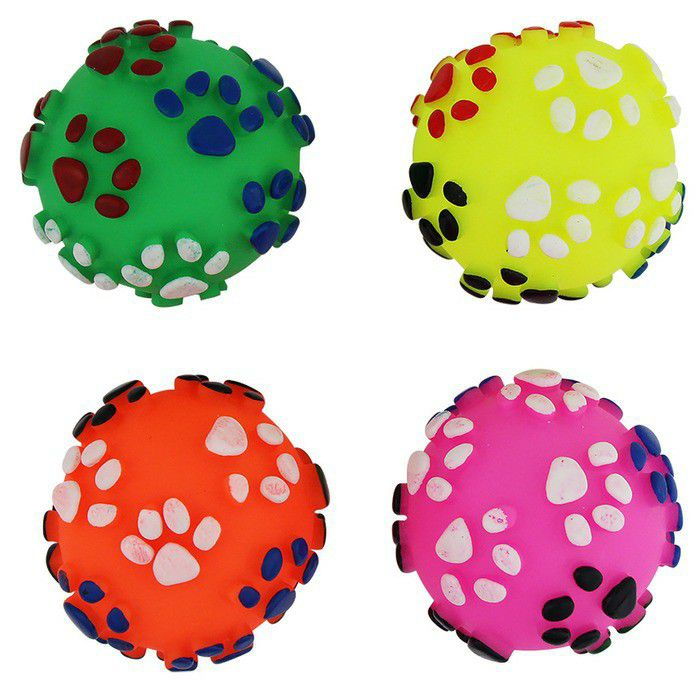 Brinquedo Pet Bola Patinhas 7,5CM Amo Pet