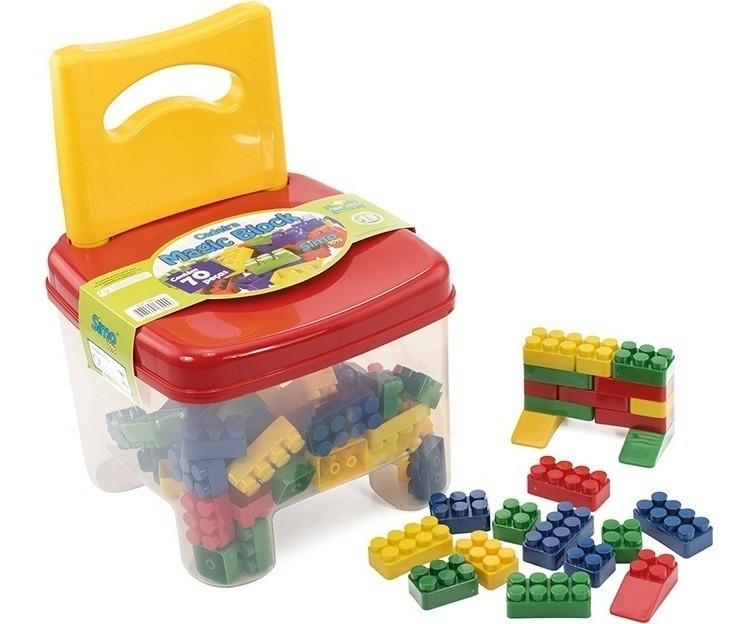 Cadeirinha Magic Block 70 Pcs Simo Toys