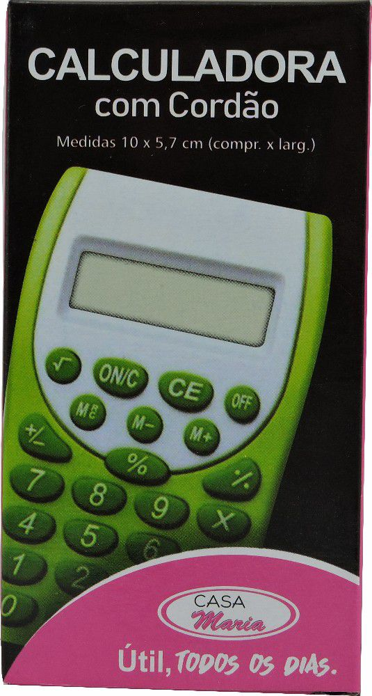 Calculadora 8 Digitos com Cordão Mania de Casa