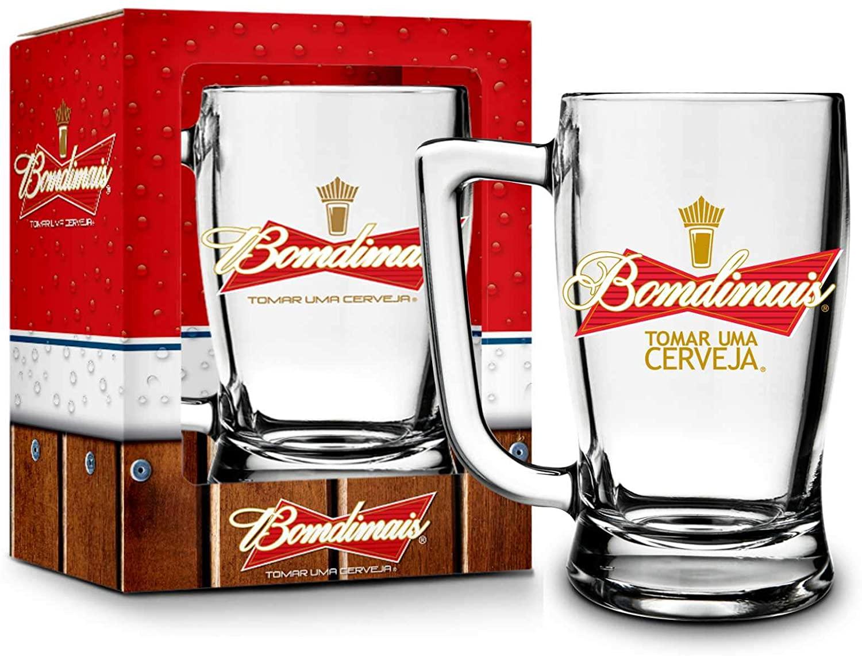 Caneca de Vidro Taberna Budweiser Bomdimais - Brasfoot