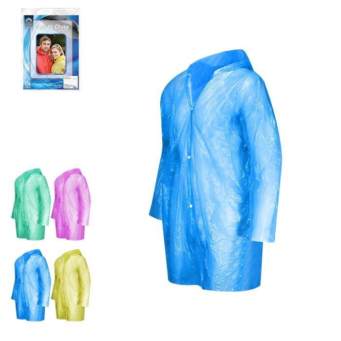 Capa de Chuva Adulto Plástico Zein