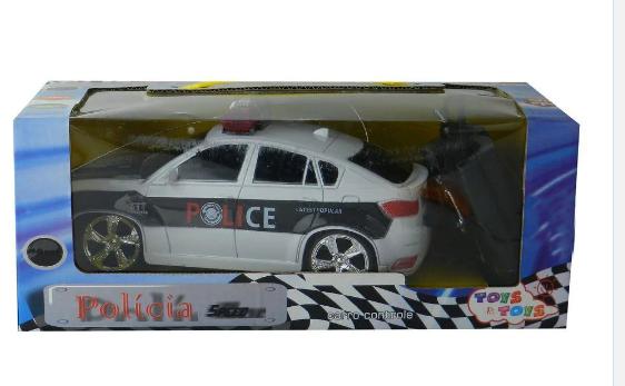 Carro com Controle Policia Infantil Euroquadros