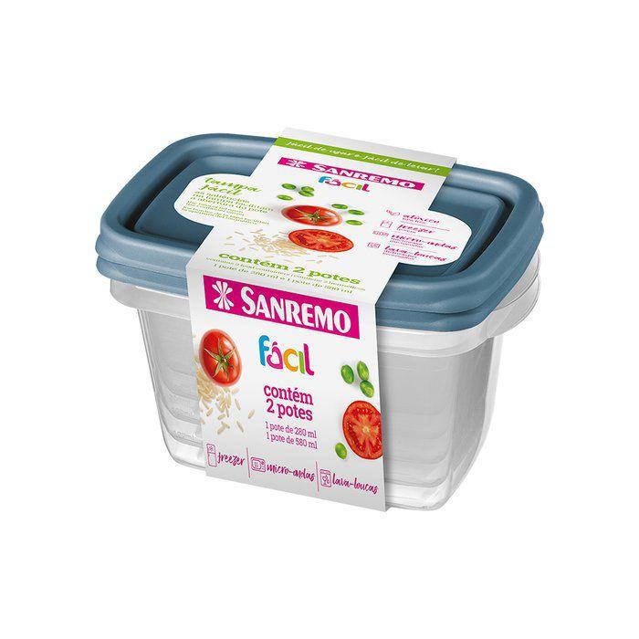 Conjunto 2 Potes Retangular Sanremo