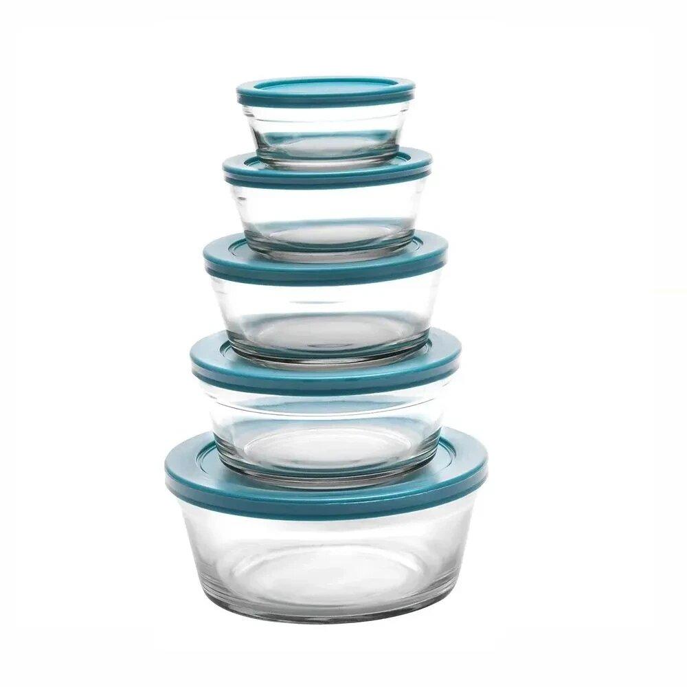 Conjunto com 5 Tigelas de Vidro - Casambiente