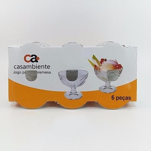 Conjunto com 6 Taças de Sobremesa 183ML - Casambiente
