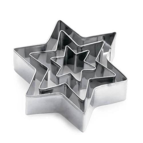 Conjunto de Forminhas Estrela 3Peças Etilux