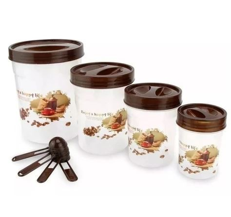 Conjunto de Potes Café com Colher Medidora