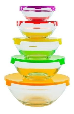 Conjunto de Potes de Vidro 5 Peças Wincy