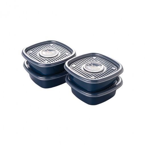 Conjunto de Potes Quadrado Pop com 4 Peças Plasútil
