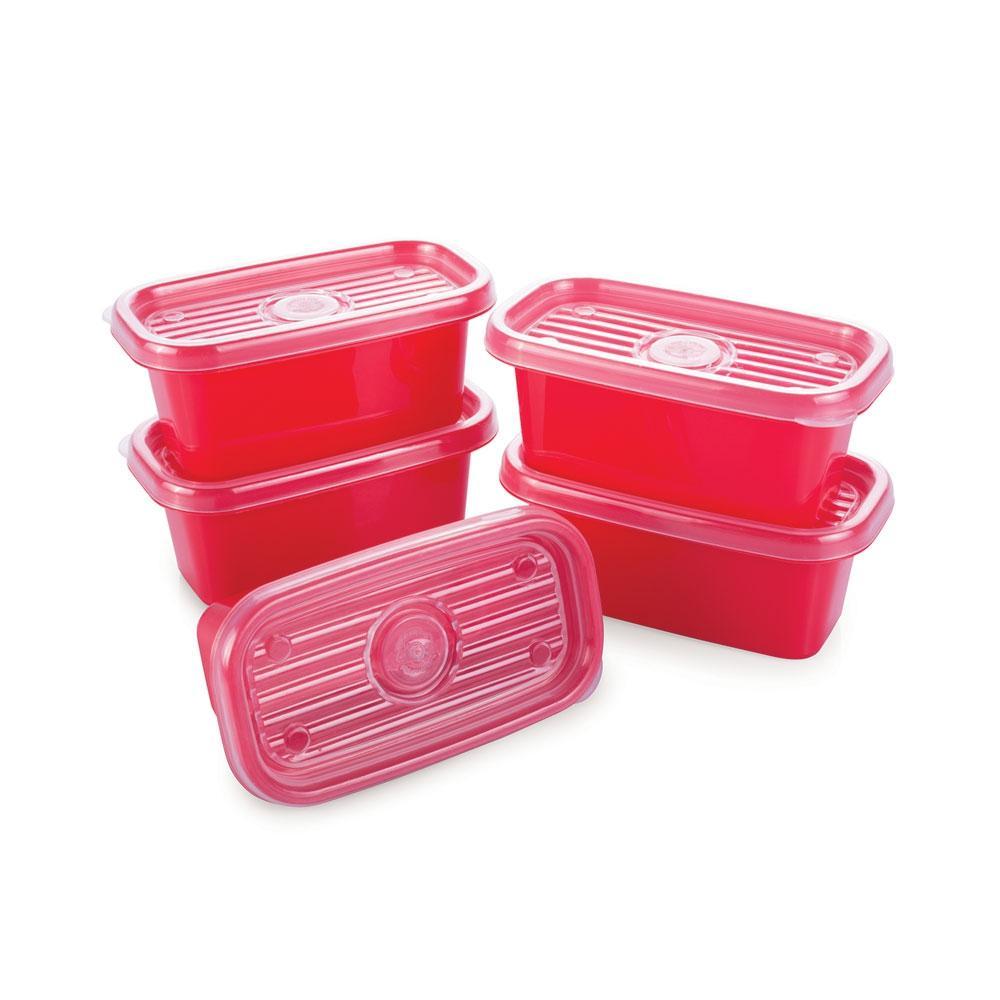 Conjunto de Potes Retangulares Pop com 5 Unidades Plasútil