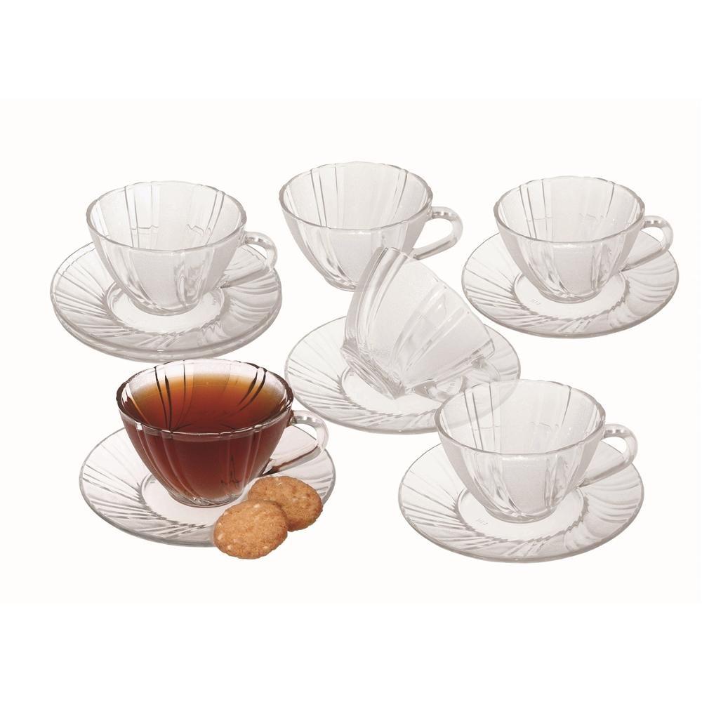 Conjunto  de Xícaras  para chá 12 peças Unicasa