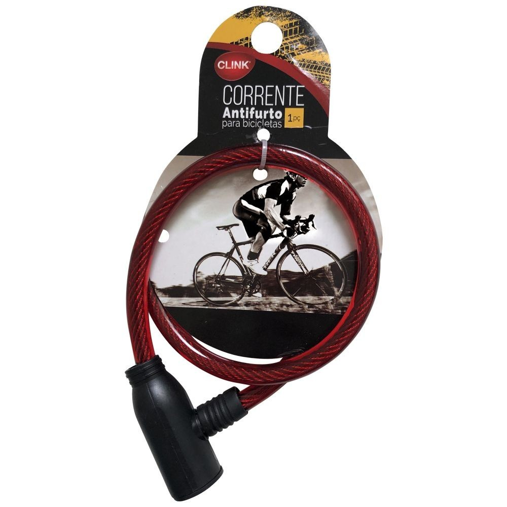 Corrente Antifurto Para Bicicleta Clink