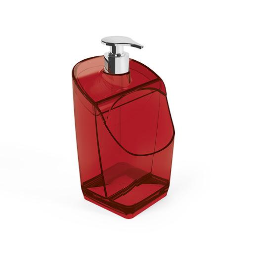 Dispenser Vermelho Translúcido 500ml - UZ