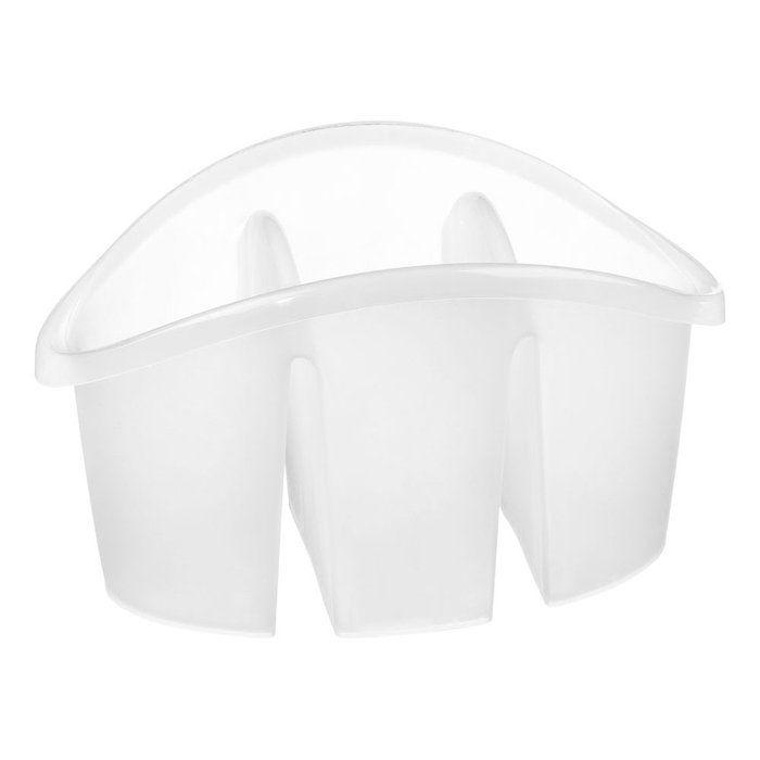 Escorredor Talher com Divisória Plástico Transparente Sanremo