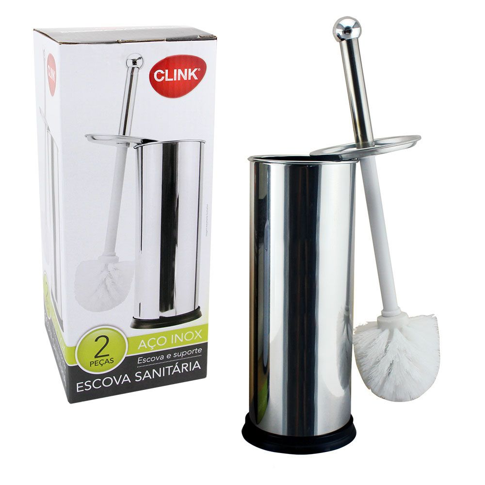 Escova Sanitária Com Suporte Inox Clink