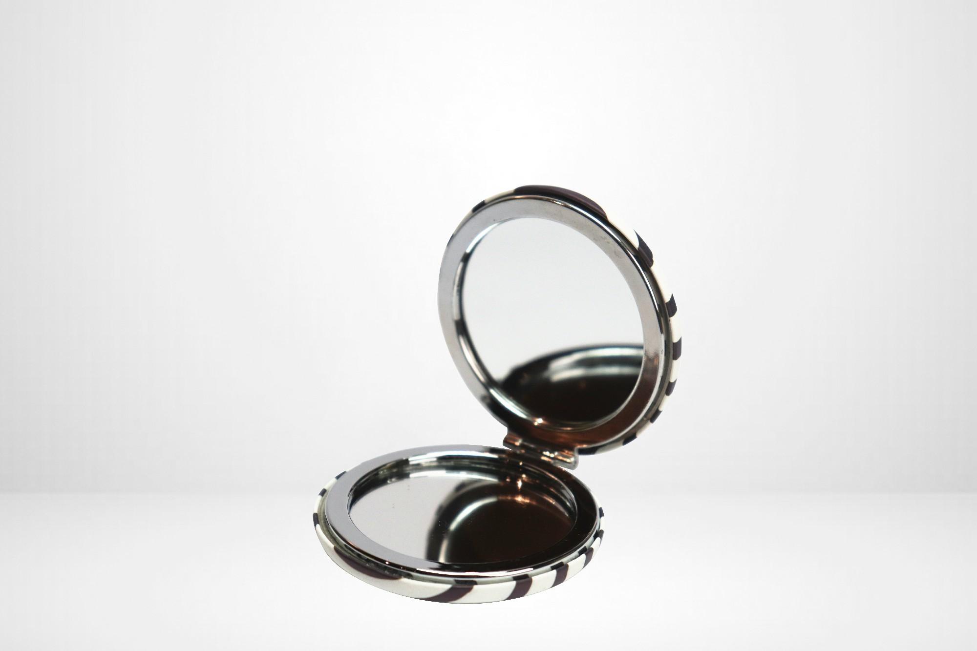 Espelho de Bolsa Duplo Decorado 7cm Yaha