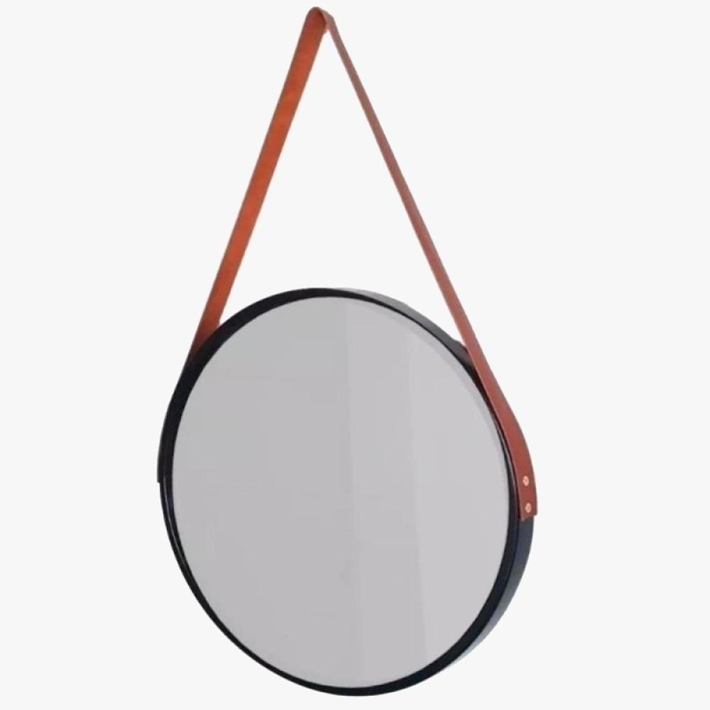 Espelho Decorativo Adnet Com Moldura Preto- Fwb