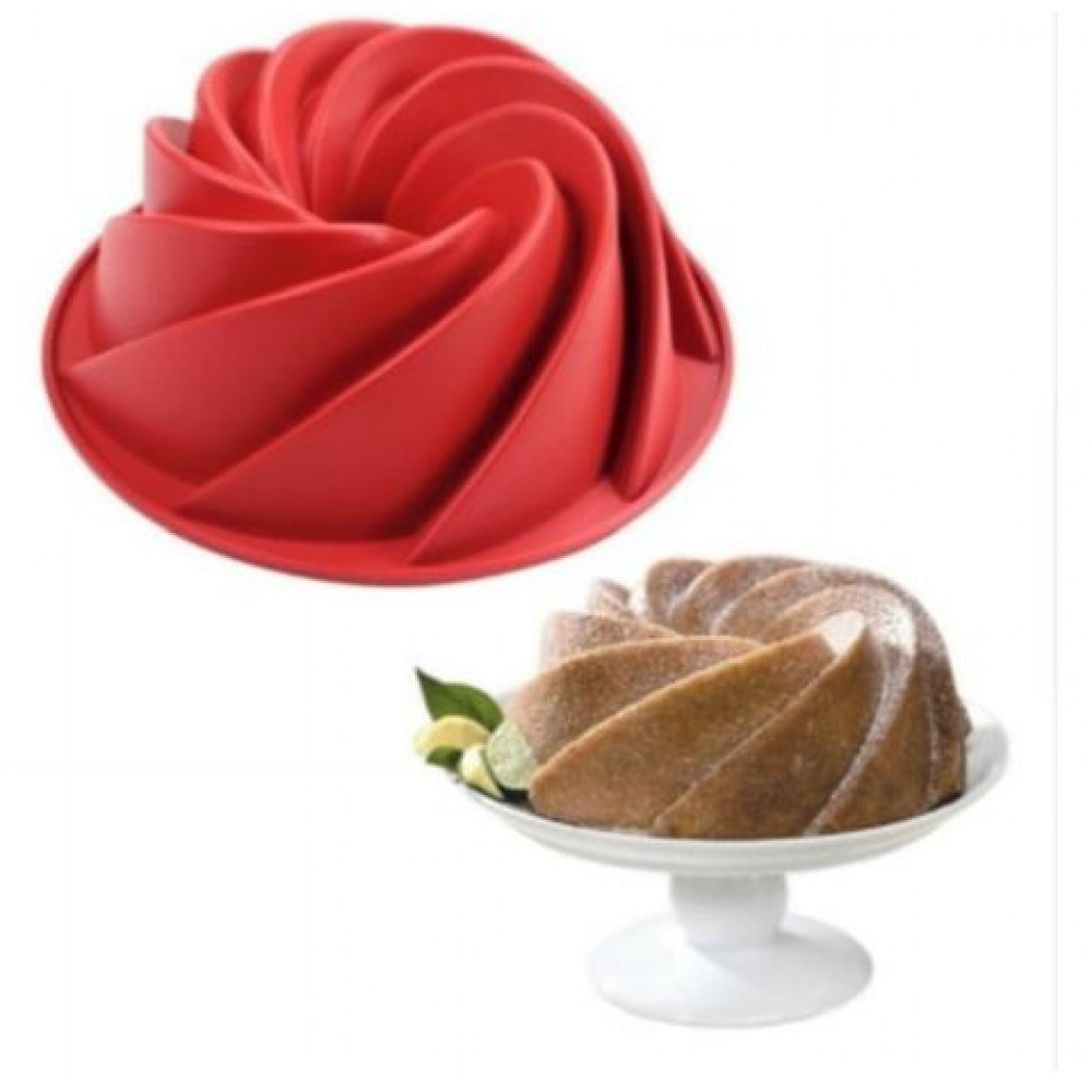 Forma de Silicone para Bolo Espiral com Furo Amigold