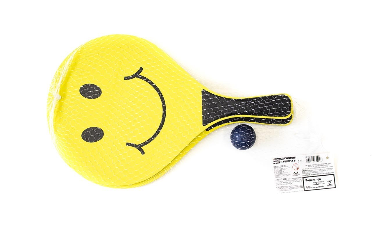 Frescobol com 2 Raquetes e 1 Bola Euroquadros