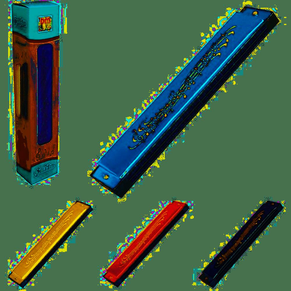 Gaita De Boca Harmônica 24 Furos Infantil Dm Toys