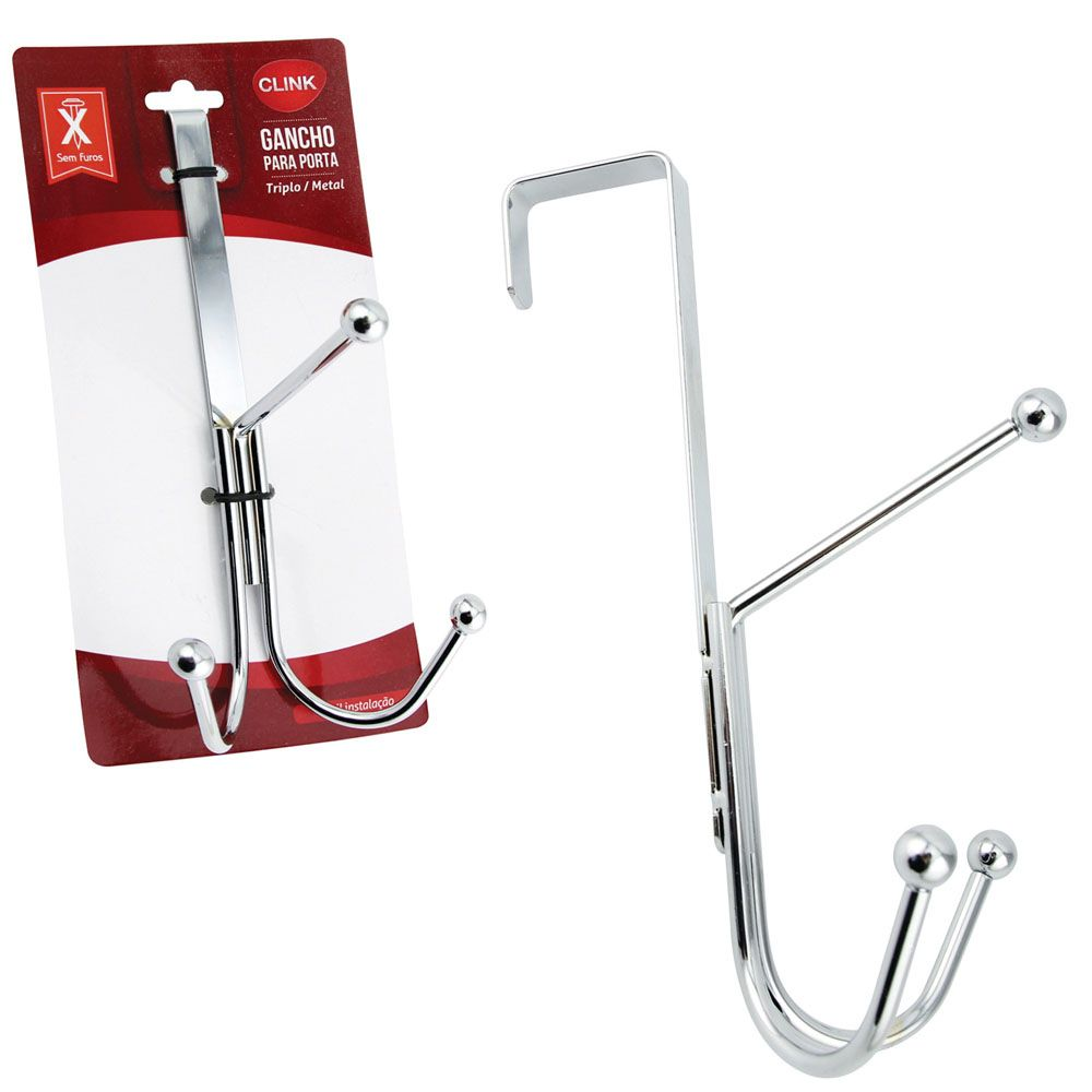 Gancho Metal para Porta Triplo Clink