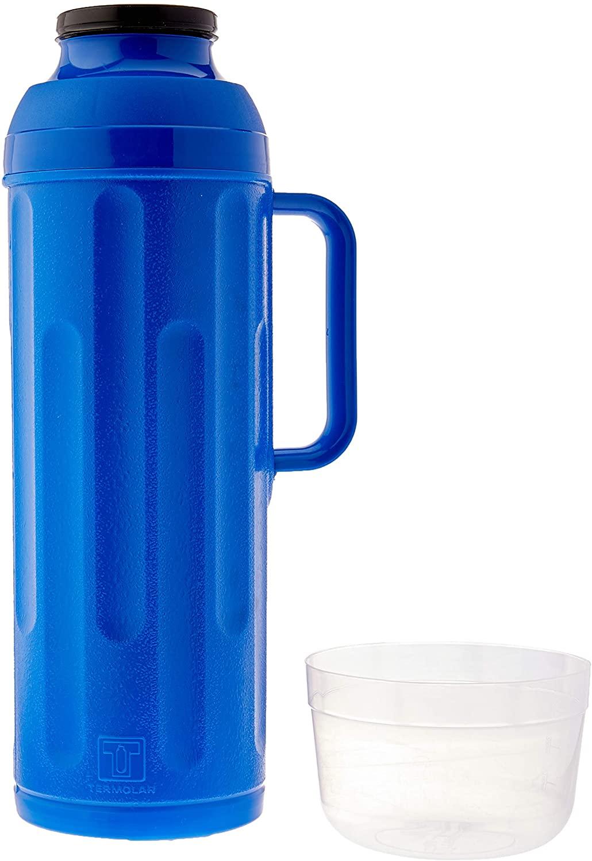 Garrafa Térmica 1L Personal Rolha Azul Termolar