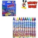 Giz  De Cera Mickey Com 12 Cores