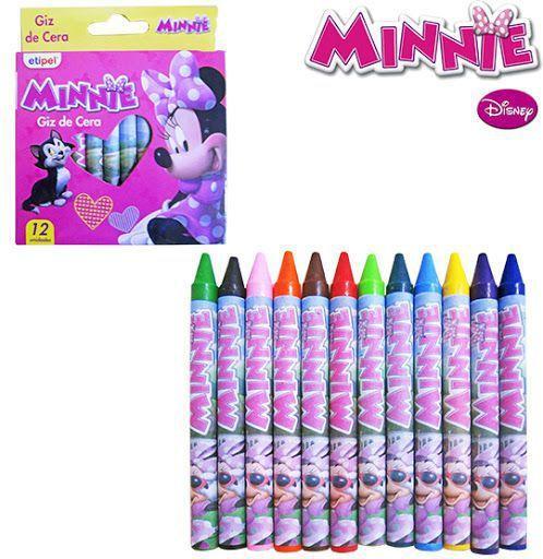 Giz de cera Minnie com 12 Cores