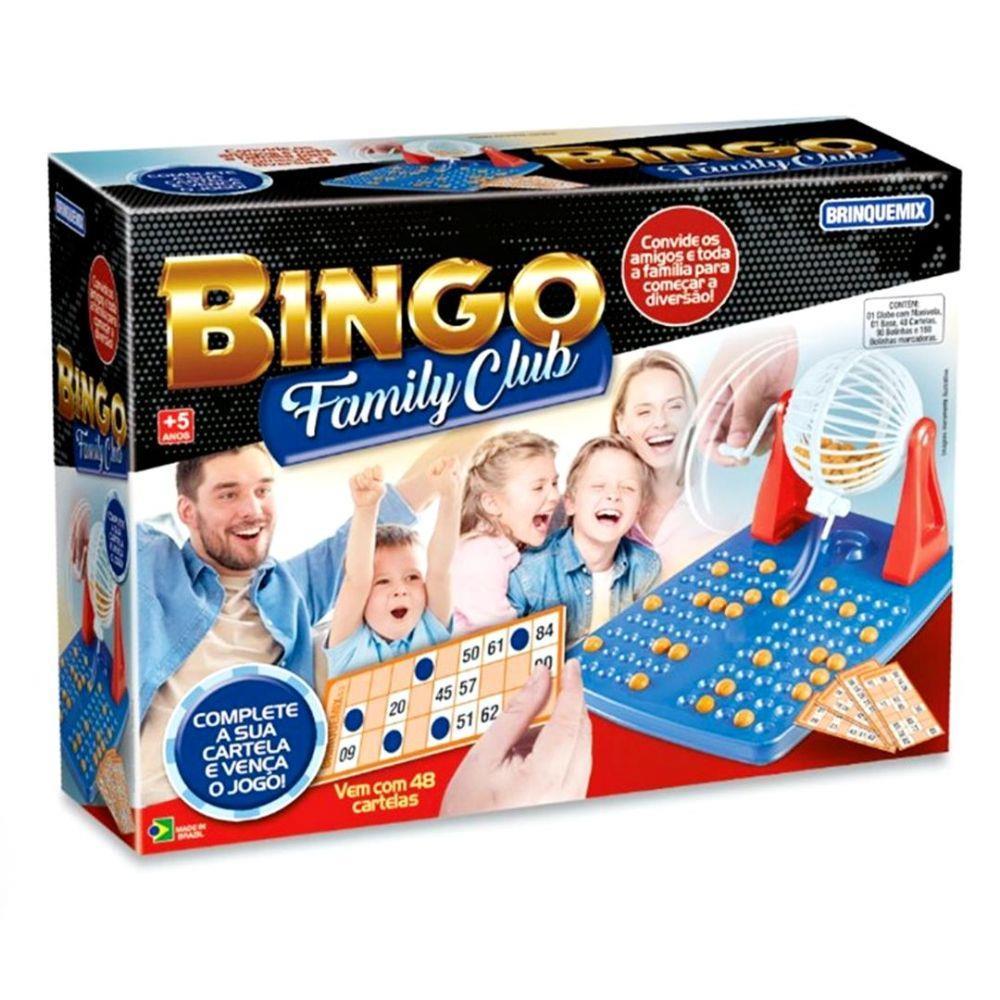 Jogo Bingo Family Club Brinqmix