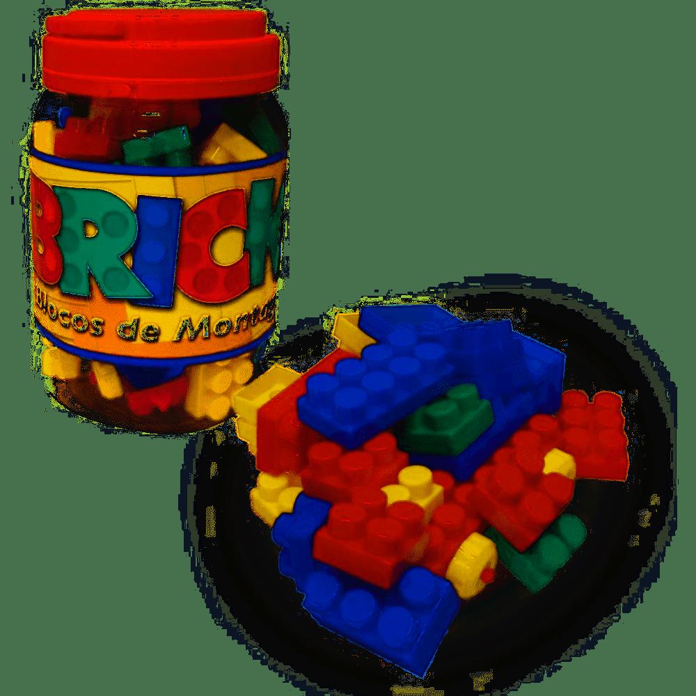 Jogo Blocos para Montar Bricks 56 Peças Gala