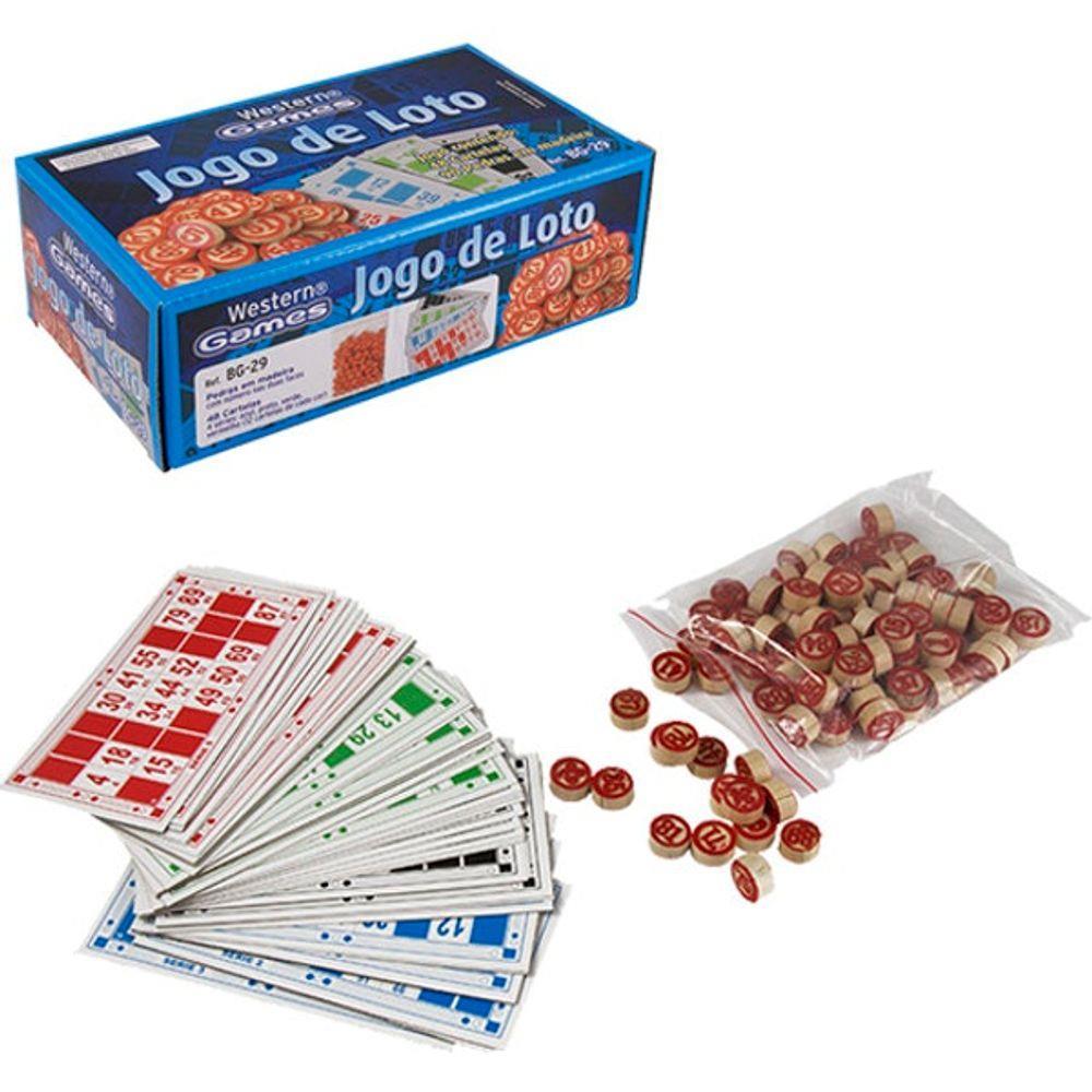 Jogo de Bingo Loto Peças de Madeira Etilux