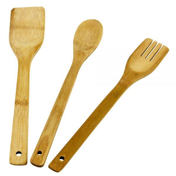 Kit Pegadores De Bambu 3 Peças Clink