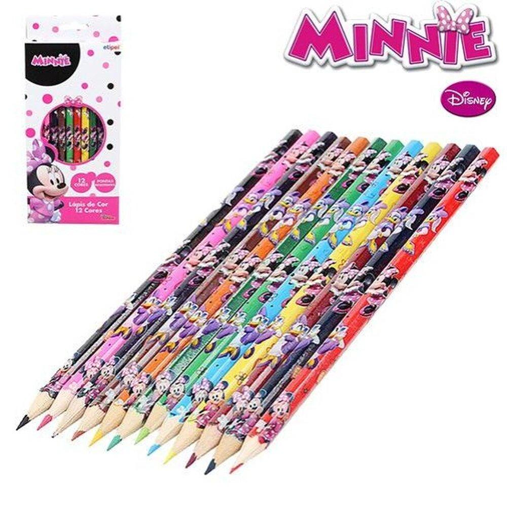 Lapis de Cor Minnie Disney 12 Cores Etilux