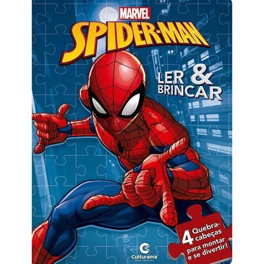 Ler e Brincar com Quebra Cabeça Homem Aranha - Culturama