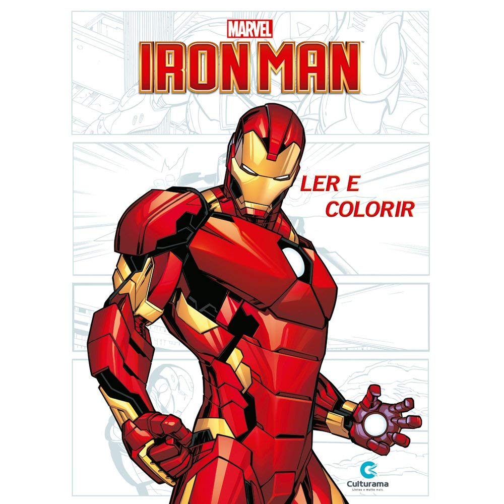 Ler e Colorir Home de Ferro - Culturama