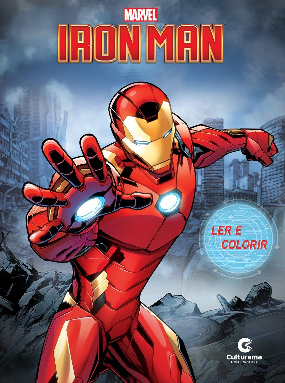 Ler e Colorir  Homem de Ferro - Culturama
