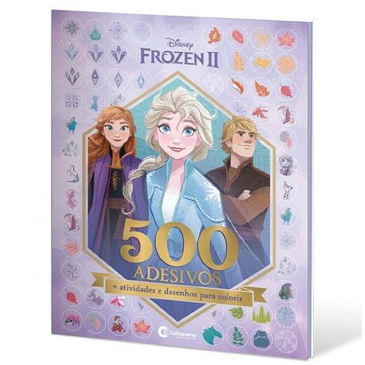 Livro de Colorir e 500 Adesivos Frozen 2 Culturama