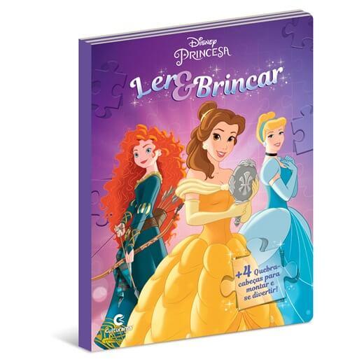 Livro Ler e Brincar Princesas com Quebra-cabeças Culturama