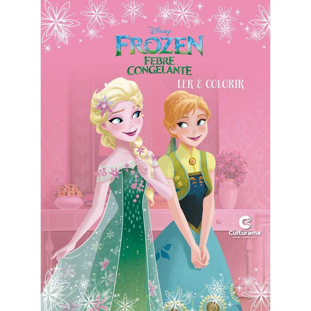 Livro Ler e Colorir Frozen Fever - Culturama