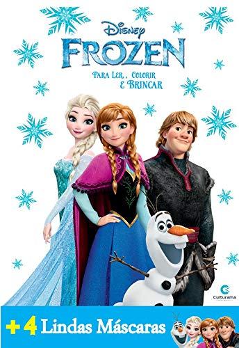 Livro para Colorir e Historias Frozen, com Máscaras Culturama